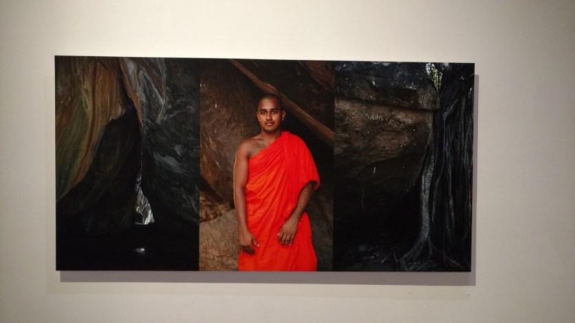 Ram Rahman 'The Man, the Word, the Tree, the Lotus' detail of monk