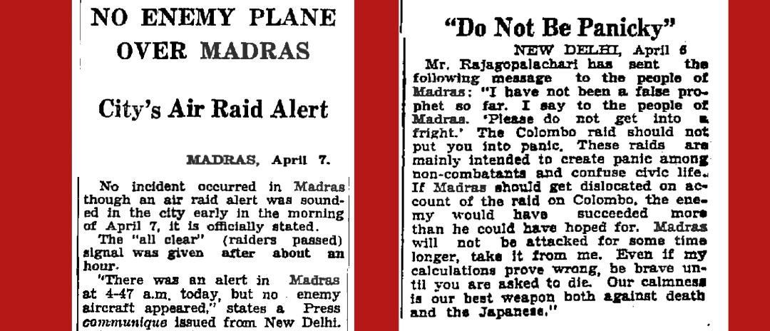 Times of India, April 8 & April 7, 1942