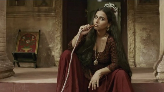 Vidya Balan in a still from <em>Begum Jaan</em>.