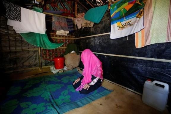 A rape victim poses in a Makeshift Refugee Camp in Cox's Bazar, Bangladesh, April 11, 2017. Credit: Reuters/Mohammad Ponir Hossain/Files