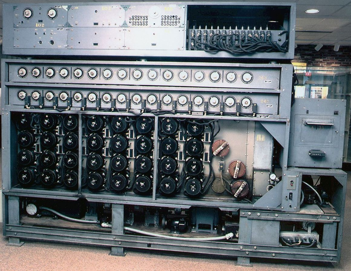 US Navy bombe deciphering device at the National Cryptologic Museum. Credit: Wikimedia Commons