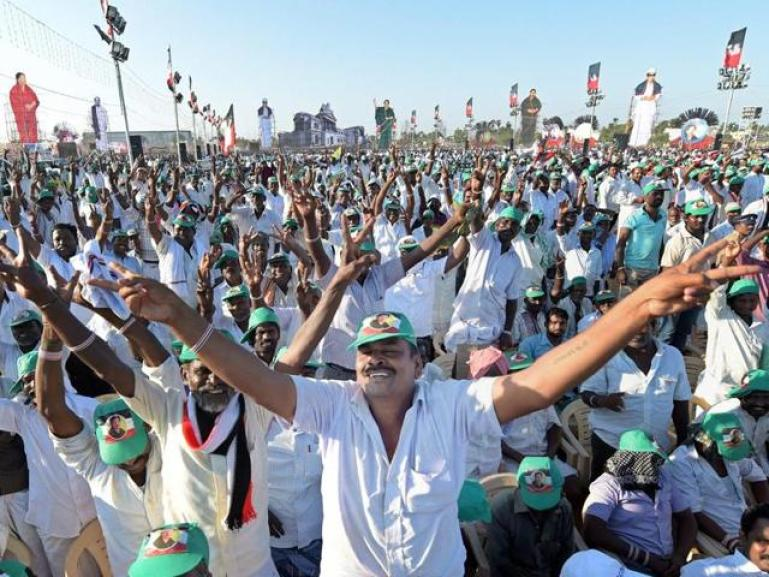 AIADMK supporters in Tamil Nadu. Credit: PTI