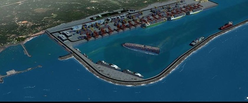 An artist's illustration of the Enayam port, once ready. Source: YouTube