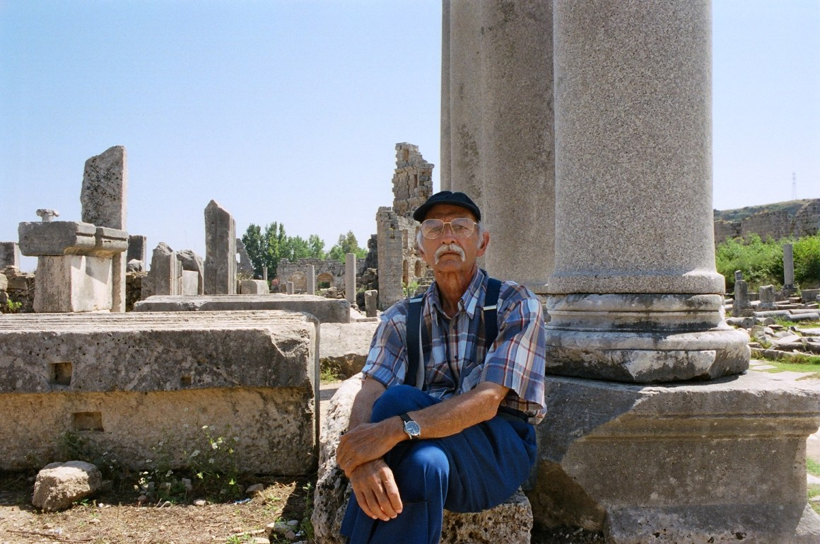 Mukarram Jah posing near the old Roman ruins, which he loved, in Antalya, Turkey. Credit and copyright: John Zubrzycki