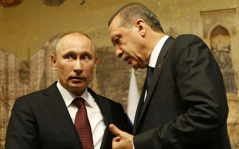 Russian President Vladimir Putin with Turkish President Recep Tayyip Erdogan. Credit: Reuters/Files