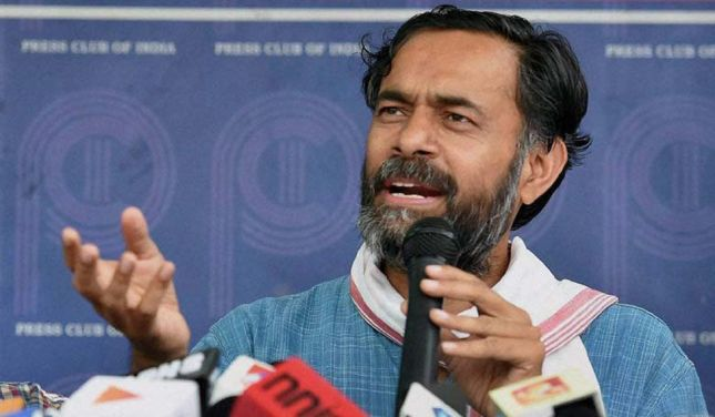 Swaraj India national party president Yogendra Yadav. Credit: PTI