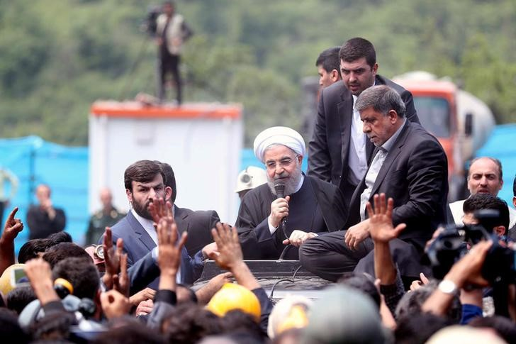 Ex-President Rallies Support for Re-Election of President Rouhani