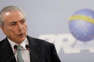 Brazil's President Michel Temer speaks at the Planalto Palace in Brasilia, Brazil, May 18, 2017. Credit: Reuters/Ueslei Marcelino