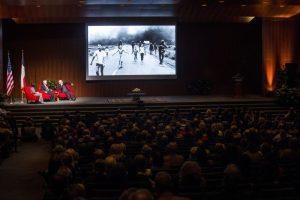Nick Ut's Pulitzer Prize-winning photo of children fleeing a village under attack during the Vietnam War was featured in a public seminar. Credit: Flickr / LBJ Library/ Gabriel Cristóver Pérez (Public Domain)