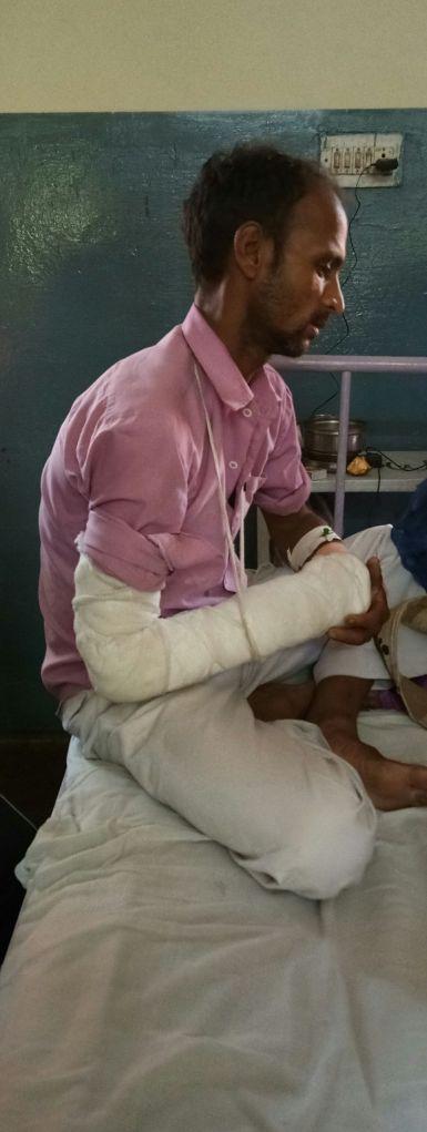 Anil Singh who testified against the Thakur community. Credit: Srija Naskar
