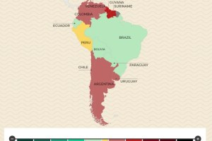 Infographic about changes in bad health that mya be expected in South America. Credit: Medigo/Global Voices