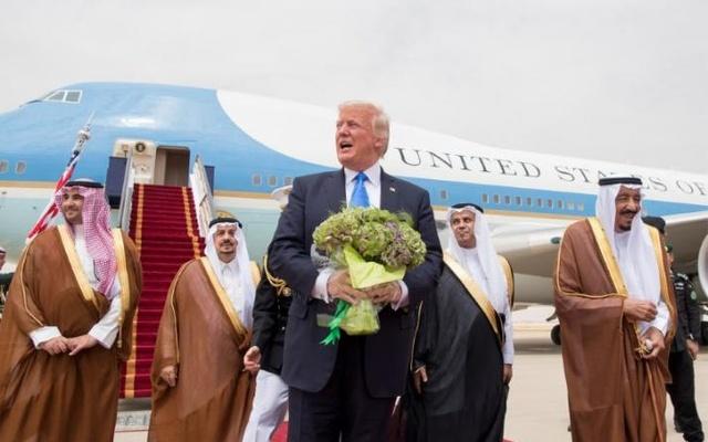 Donald Trump in Saudi Arabia. Credit: Reuters