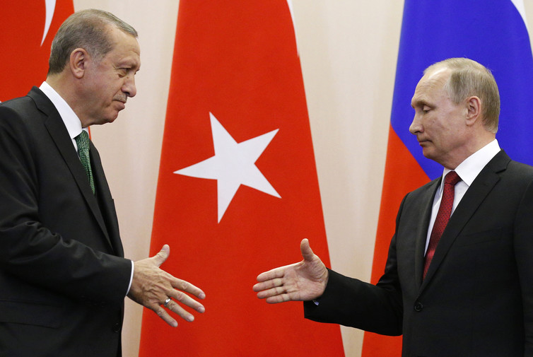 Putin and Erdoğan: new best friends? Credit: Alexander Zemlianichenko/Reuters