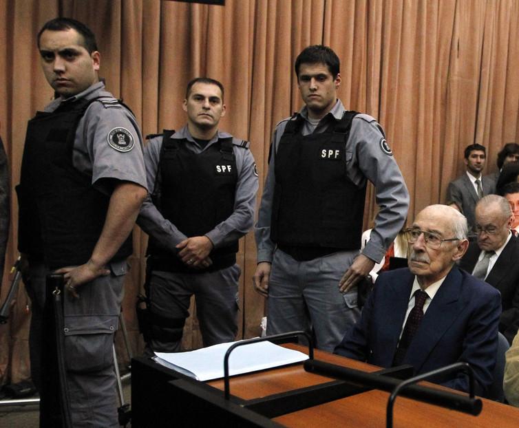 An Argentine court hands former dictator Jorge Rafael Videla a 50-year jail sentence in 2012. Credit: Enrique Marcarian/Reuters