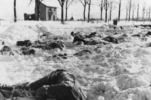 American soldiers murdered by the 1st SS Panzer Division at Malmedy, 14 January 1945. Credit: Wikipedia