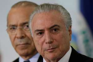 Brazil's President Michel Temer attends the launching ceremony for the Plano Safra 2017/2020, a package of actions for the agricultural sector, in Brasilia, Brazil, May 31, 2017. Credit: Reuters/Ueslei Marcelino