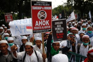 Anti-Ahok protests in Jakarta. Credit: Reuters