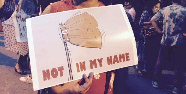 Not In My Name Protest in Delhi.