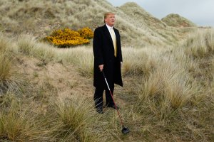 Donald Trump, pictured here on the sand dunes of the Menie estate near Aberdeen, Scotland, in 2010. Credit: Reuters/David Moir
