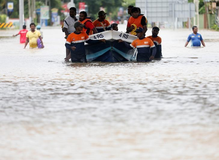 Sri Lanka appeals for flood aid