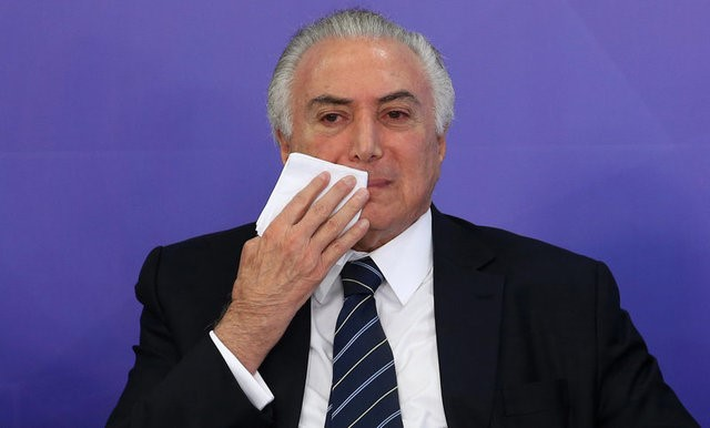 Brazil's President Michel Temer in Brasilia, Brazil, July 6, 2017. Credit: Reuters/Adriano Machado