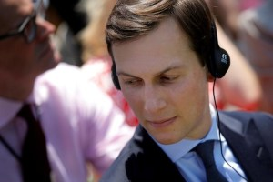 Senior advisor Jared Kushner attends a joint statement from U.S. President Donald Trump and South Korean President Moon Jae-in in the Rose Garden of the White House in Washington, U.S., June 30, 2017. REUTERS/Carlos Barria