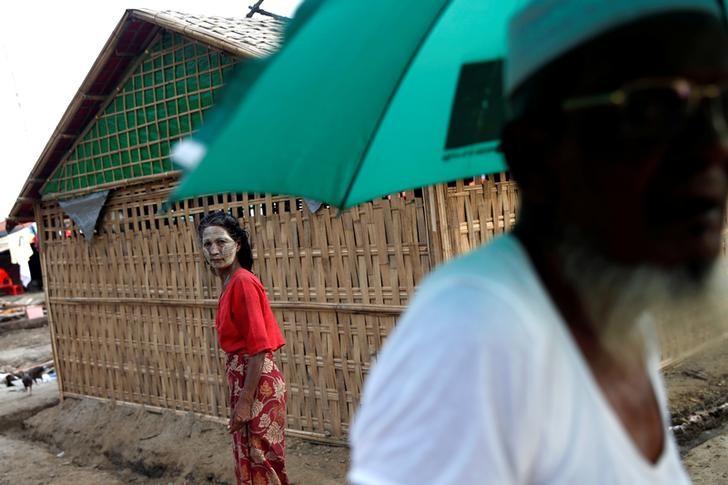 A Rohingya woman walks in a refugee camp outside Kyaukpyu in Rakhine state, Myanmar, May 17, 2017. Credit: Reuters/Soe Zeya Tun/Files