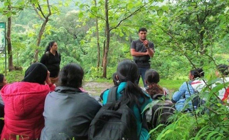 With MSc students on a field trip. Credit: Asim Auti