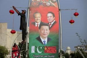 'All-weather friends': Pakistan's President Mamnoon Hussain (L), China's President Xi Jinping © and Pakistan's Prime Minister Nawaz Sharif. Credit: Reuters/Faisal Mahmood