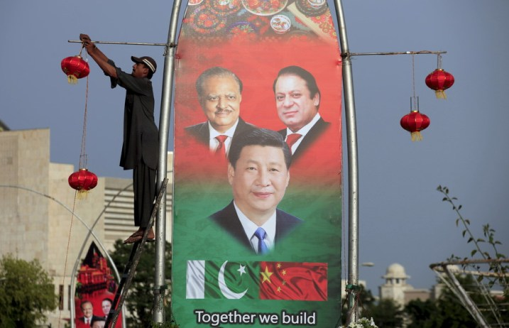 'All-weather friends': Pakistan's President Mamnoon Hussain (L), China's President Xi Jinping © and Pakistan's Prime Minister Nawaz Sharif. Credit: Reuters/Faisal Mahmood