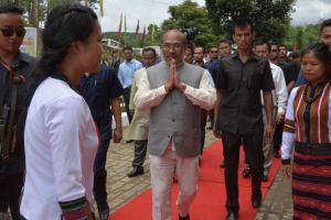 Manipur chief minister N. Biren Singh in Churachandpur. Credit: Twitter