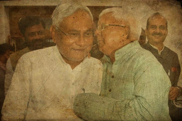 Nitish Kumar and Lalu Prasad Yadav. Credit: Reuters