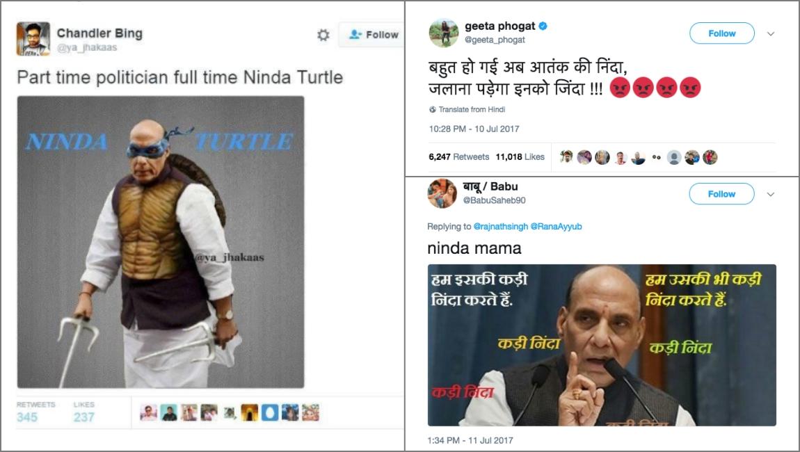 Rajnath Singh Twitter Kashmir Kashmiriyat Trolling