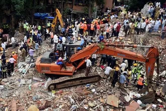 Mumbai building collapse in Ghatkopar