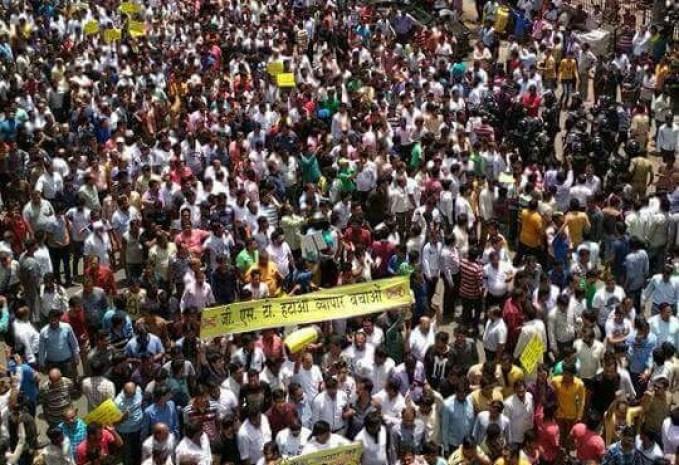 GST protest Surat, Surat Textile sector