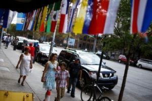 Latin American flags. Credit: Reuters