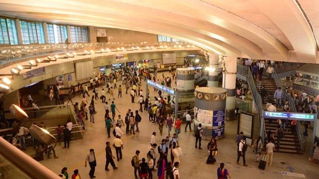 Rajiv Chowk metro station. Credit: PTI