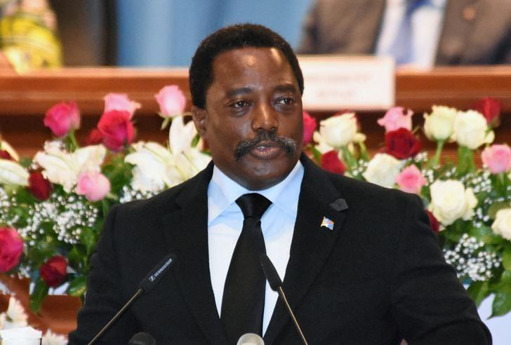 Democratic Republic of Congo's President Joseph Kabila addresses the nation at Palais du Peuple in Kinshasa, Democratic Republic of Congo, April 5, 2017. Credit: Reuters/Kenny Katombe