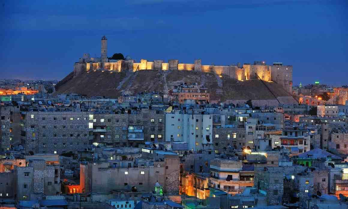 Aleppo's Citadel in 2008. Courtesy of Jean-Baptiste Rabouan/Hemis.fr