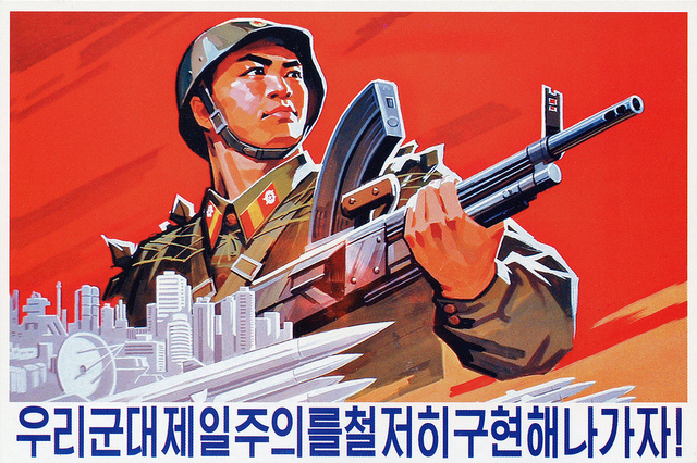 North Korean poster. Credit: Foreign Policy in Focus