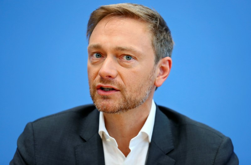 Christian Lindner, chairman of the liberal Free Democratic Party (FDP), attends a news conference in Berlin, Germany, June 26, 2017. Credit: Reuters/Hannibal Hanschke/Files