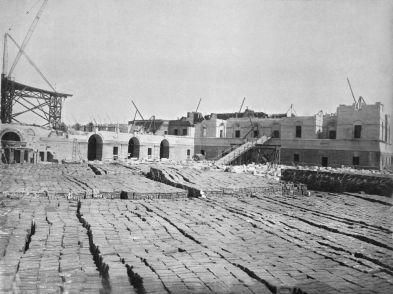 Construction of Rashtrapati Bhavan.