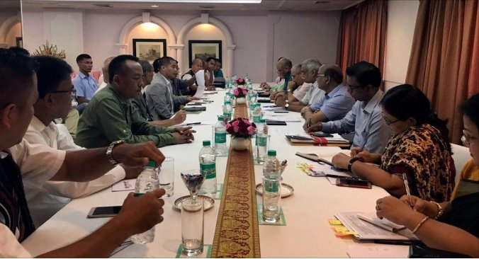 The UPF/KNO peace talks with representatives of the central and Manipur governments in New Delhi. Credit: Twitter