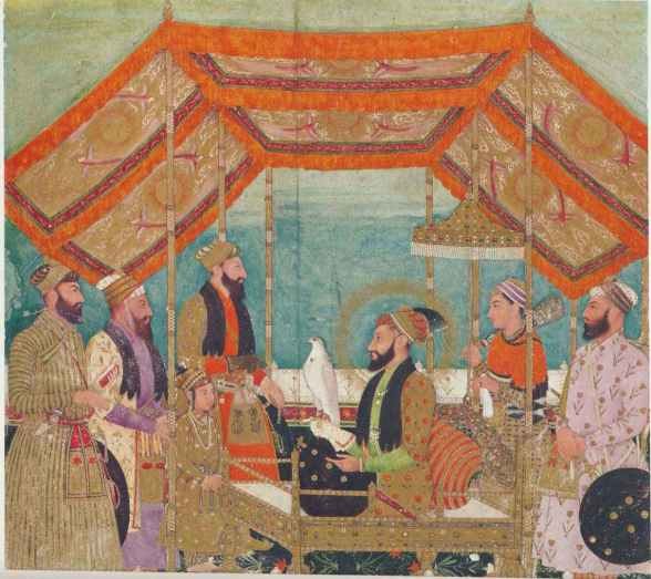 Darbar scene in a Mughal court. Credit: Wikimedia Commons