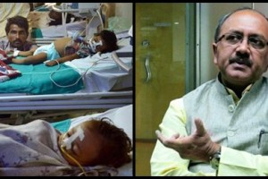 BRD Medical college, Uttar Pradesh minister for health Siddharth Nath Singh