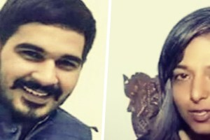 Left: Vikas Barala, son of BJP leader Subhash Barala; Right: Varnika Kundu, Chandigarh-based DJ and daughter of IAS officer Virender Kundu