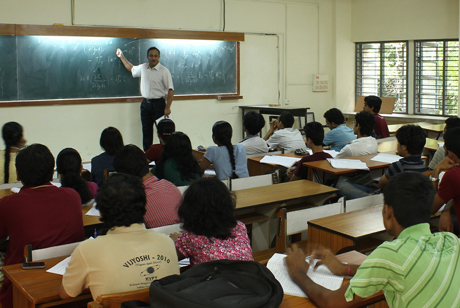 A class in session at the IIT Madras's department of physics. Credit: IIT Madras
