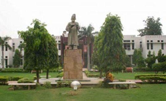 Jamia Millia Islamia University in Delhi has its Acts and ordinances prepared in Hindi. Credit; PTI