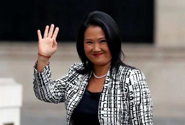 Peru's opposition leader Keiko Fujimori arrives to the government palace to meet President Pedro Pablo Kuczynski in Lima, Peru, July 11, 2017. Credit:Reuters