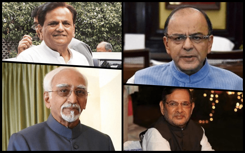 (Clockwise from left) Ahmed Patel, Arun Jaitely, Sharad Yadav and Hamid Ansari have all been part of the discussions. Credit: PTI